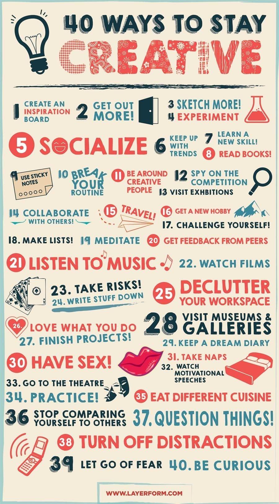 40 conseils pour rester créatif