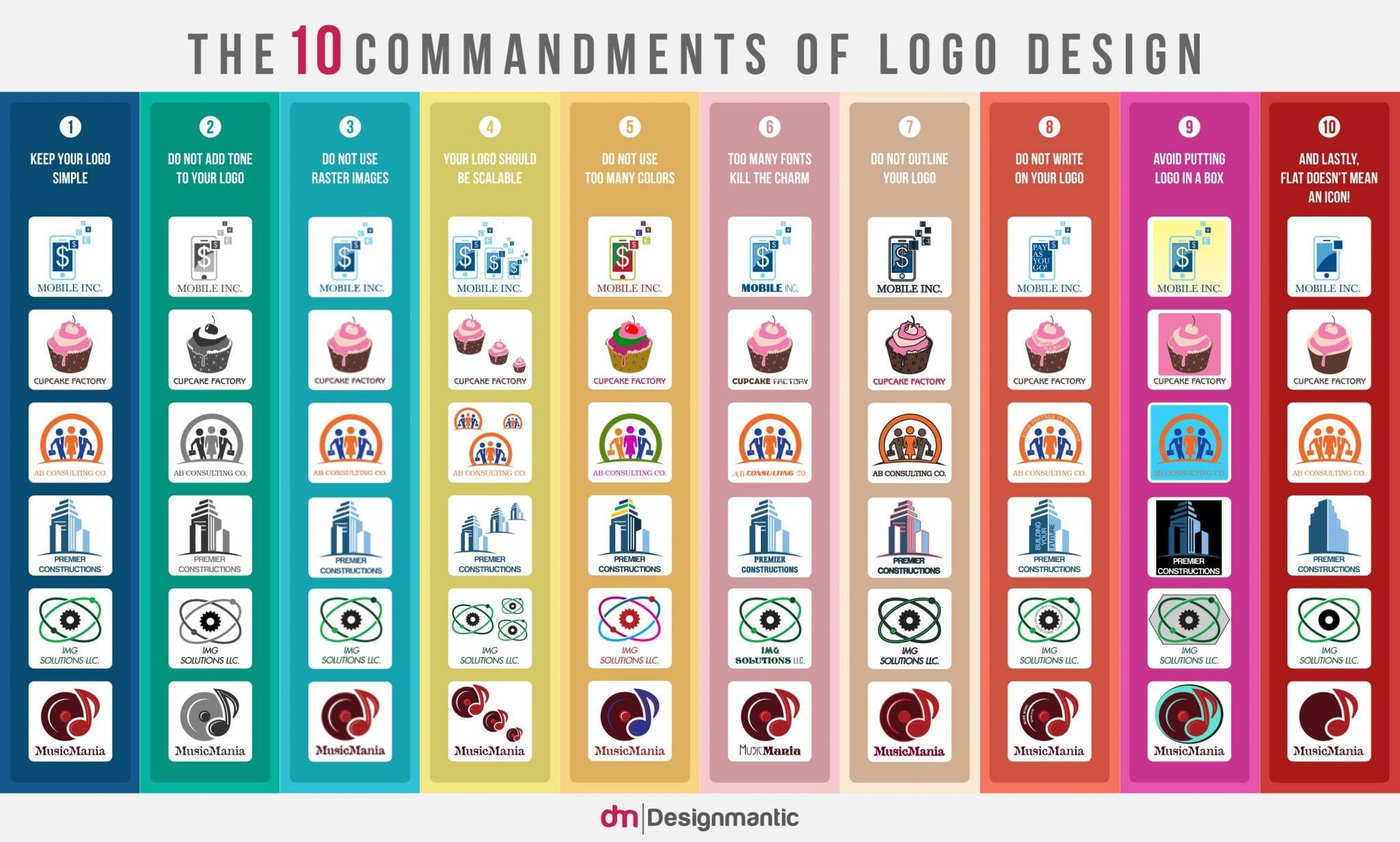 creer un logo flat