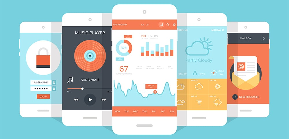 10 tendances design d\'applications mobile (1/2) | Les Jeudis - Blog ...