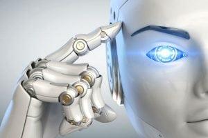 robot touche son tête - Intelligence artificielle