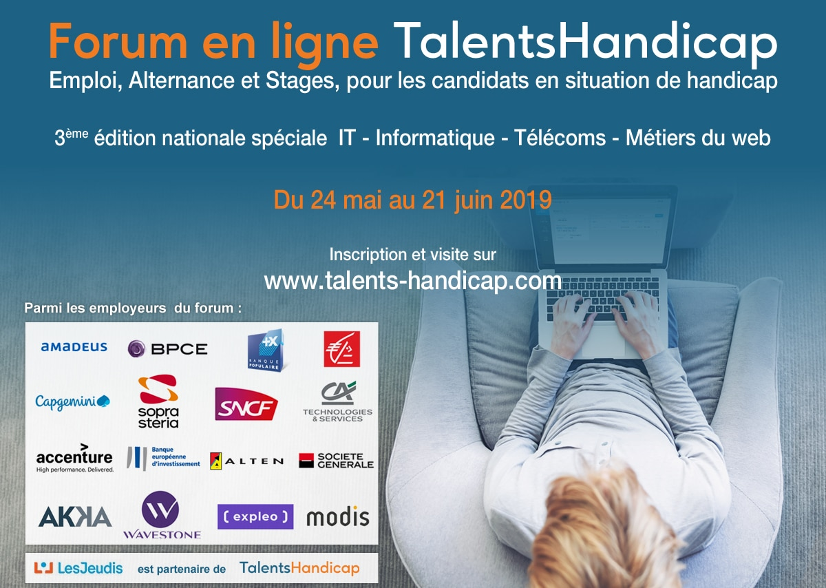 talentshandicap  le forum en ligne de l u2019emploi  u0026 le handicap   3e  u00e9dition nationale sp u00e9ciale it