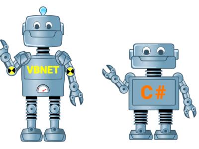 vb net ou c# comme langage de programmation