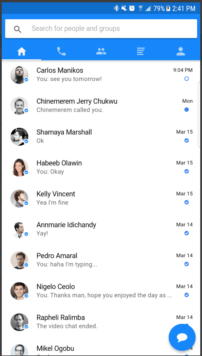 Messenger Clone (Native App)