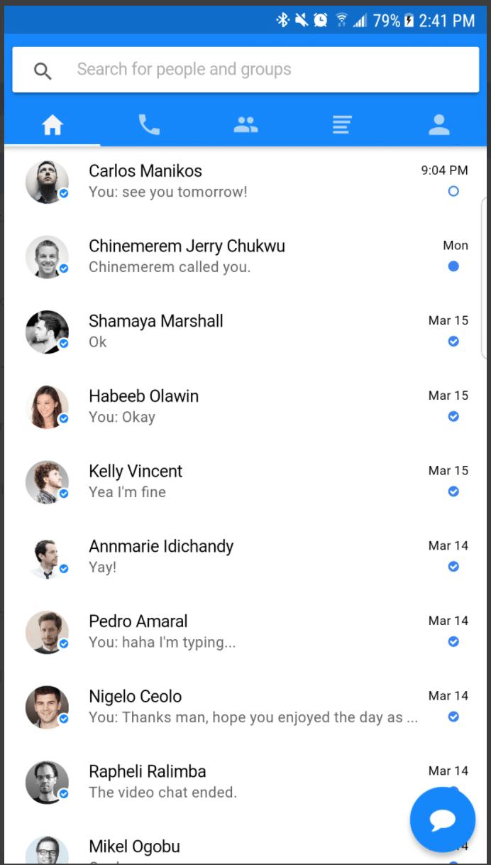 Messenger Clone (Native App)