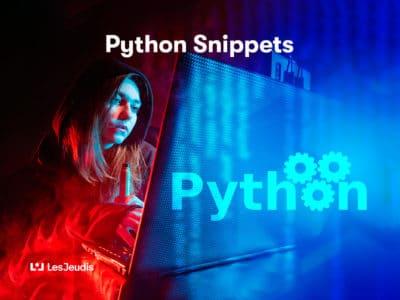 Développeur Python sur ordinateur portable