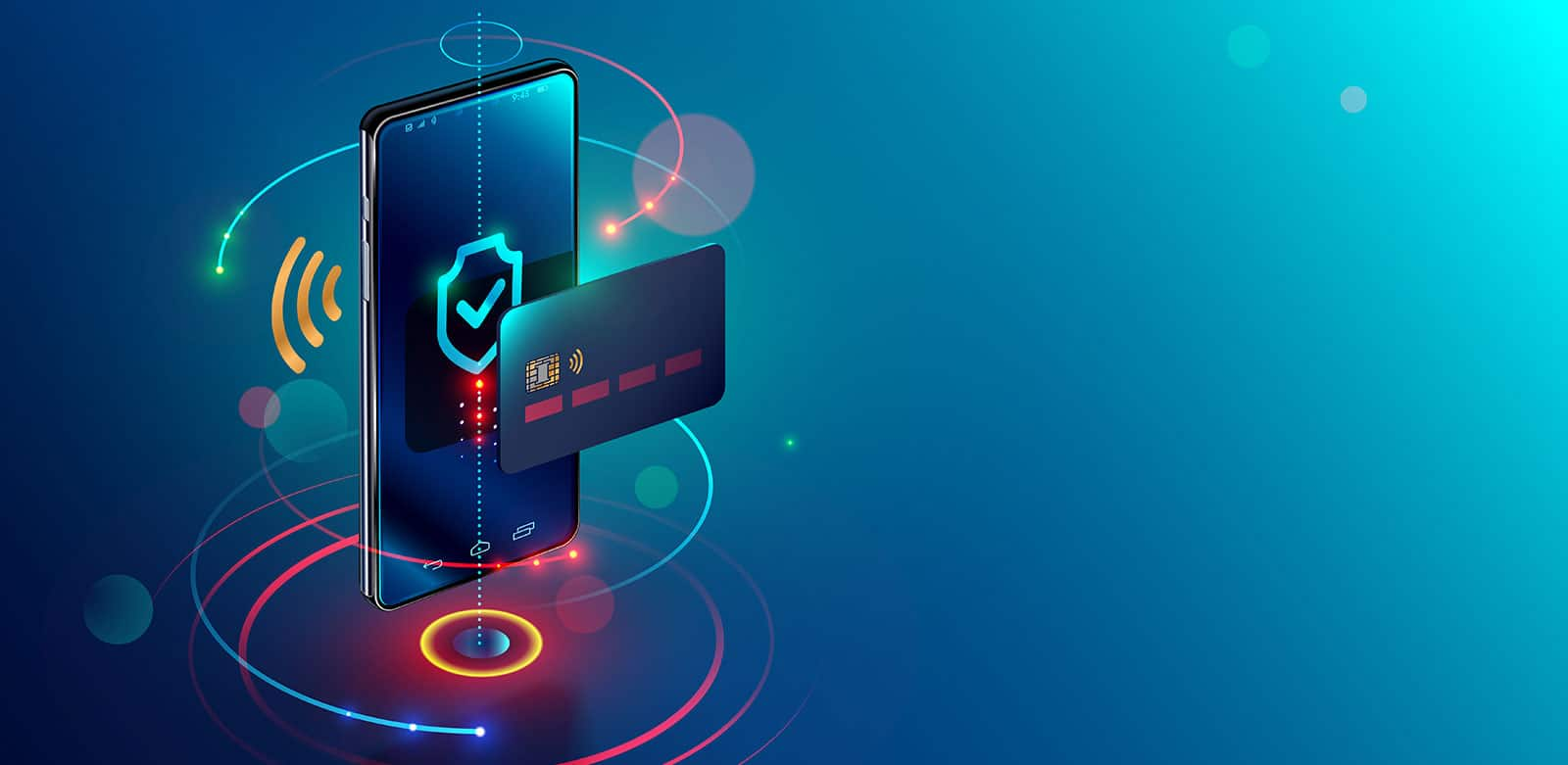 Internet banking et téléphone mobile isométrique avec système de paiement en ligne