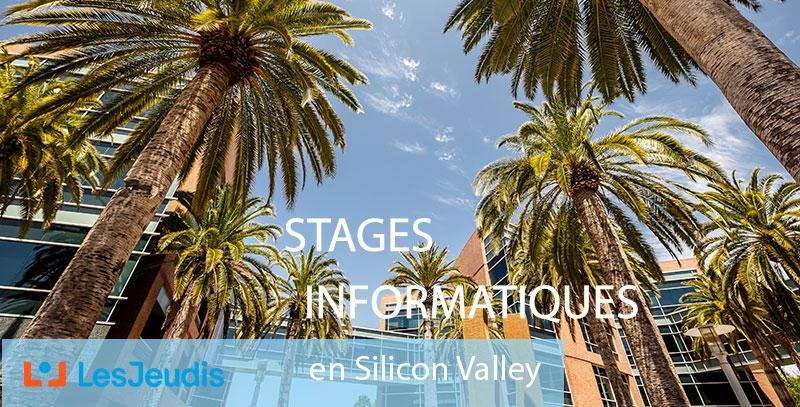 Fond avec des palmiers dans la Silicon Valley