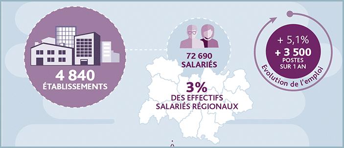 Region Auvergne-Rhône-Alpes: une croissance moyenne de 5.1% par an