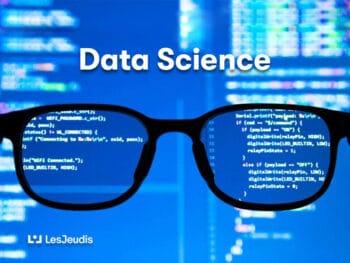 des lunettes avec de code de programmation pour la data science