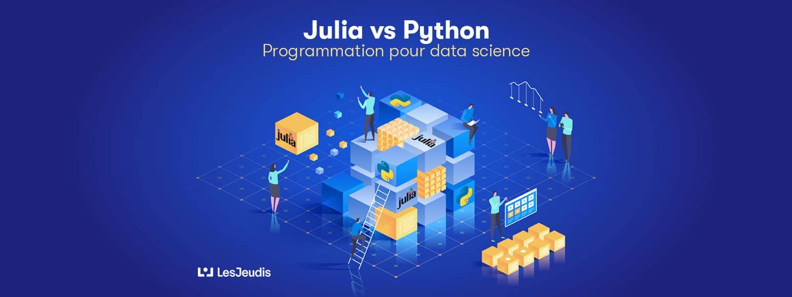 banniere sur la programmation julia et python