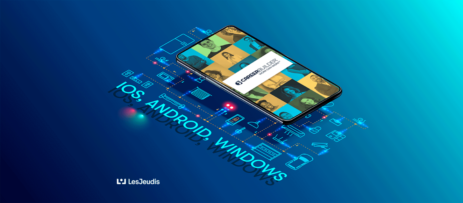 smartphone avec l'appli de CB et les textes: iOS, Android et windows
